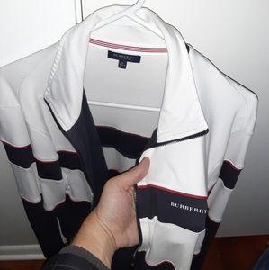 EUC Burberry full zip track jacket *rare*!